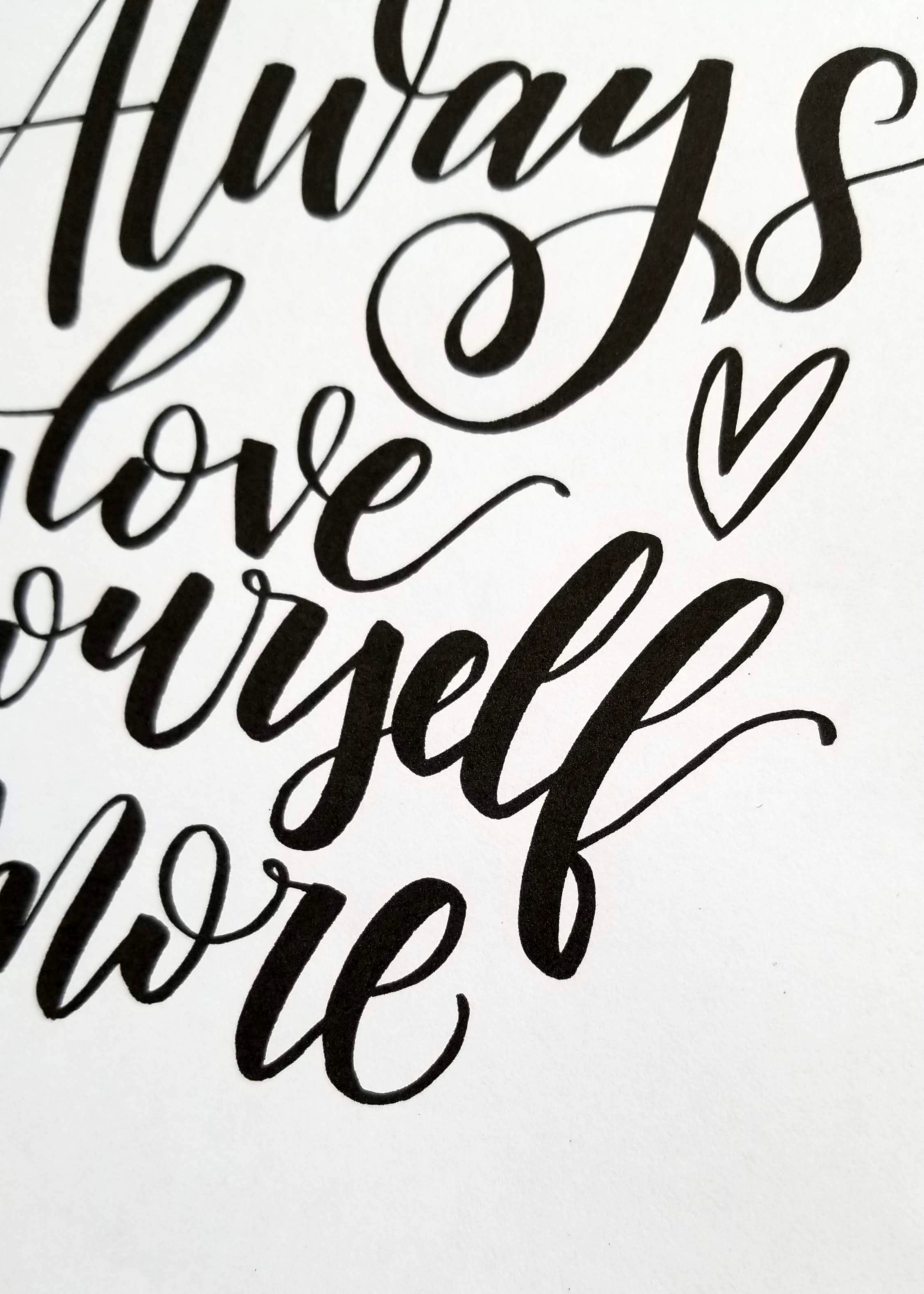 Always love yourself more - CLoseup1