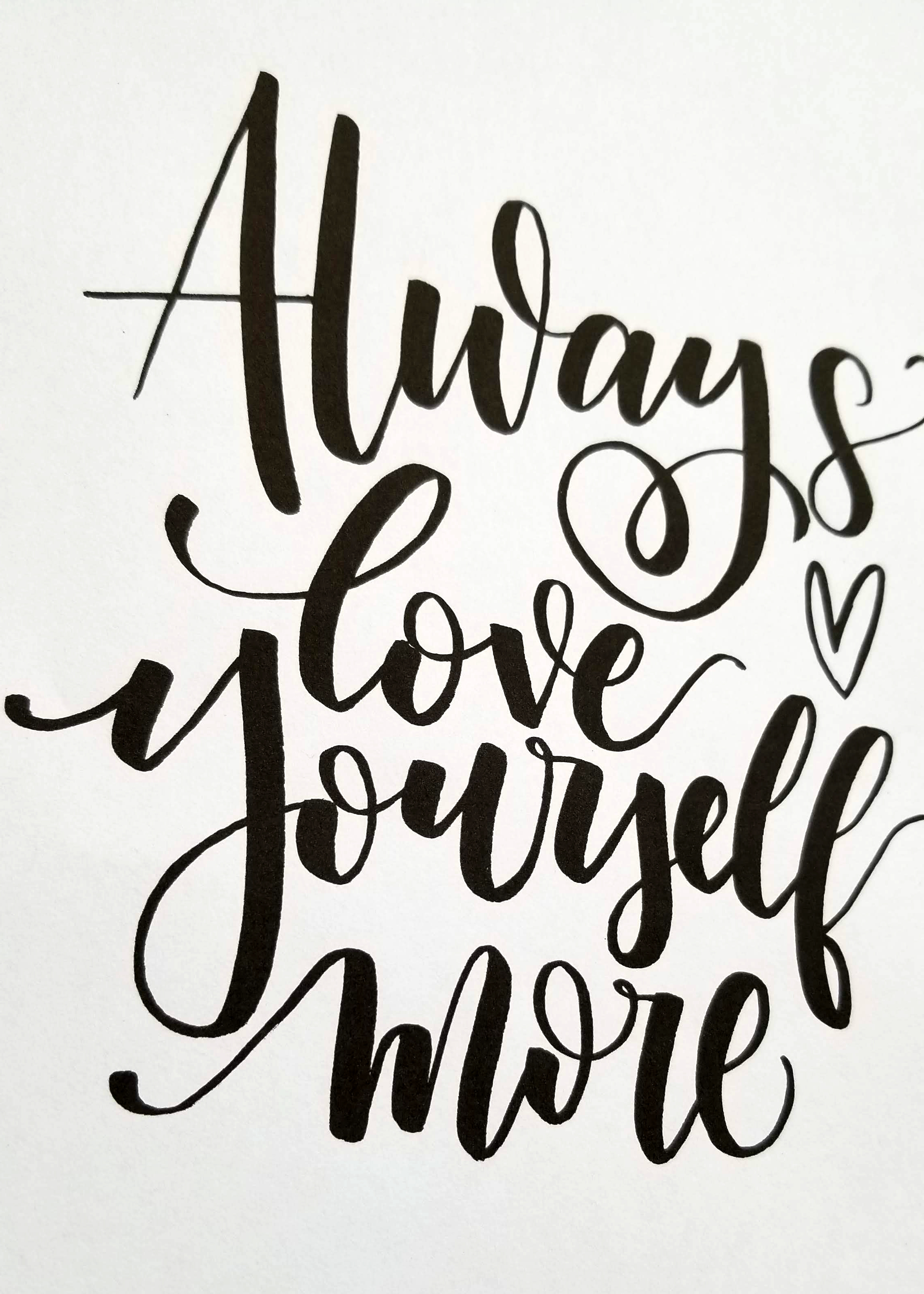 Always love yourself more - CLoseup2