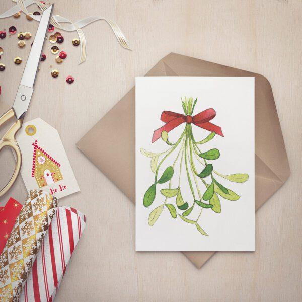 Bouquet de gui - Carte de souhaits