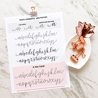 Exercices – Fausse calligraphie