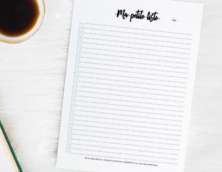 Liste à cocher – Ma petite liste