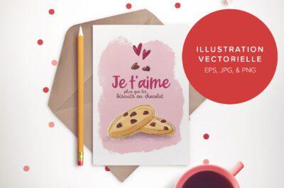 Biscuits au chocolat - Illustration