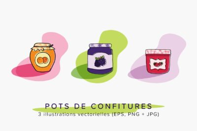 Pots de confiture - Illustrations vectorielles