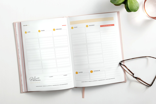 Planification hebdomadaire - Fiche à imprimer